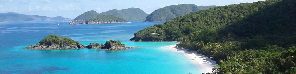 Trunk Bay Beach, considered one of the 10 best beaches in the world is home to the underwater trail.
