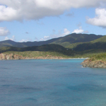 One of the views from the Ramshead Trail provides this scene of the southern shoreline of St. John.