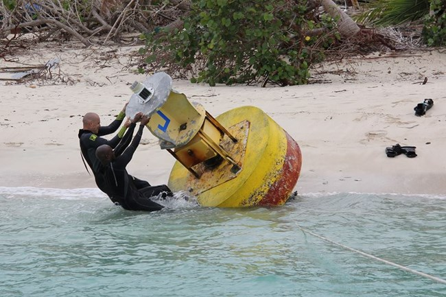 Divers Replacing Johnsons Buoy
