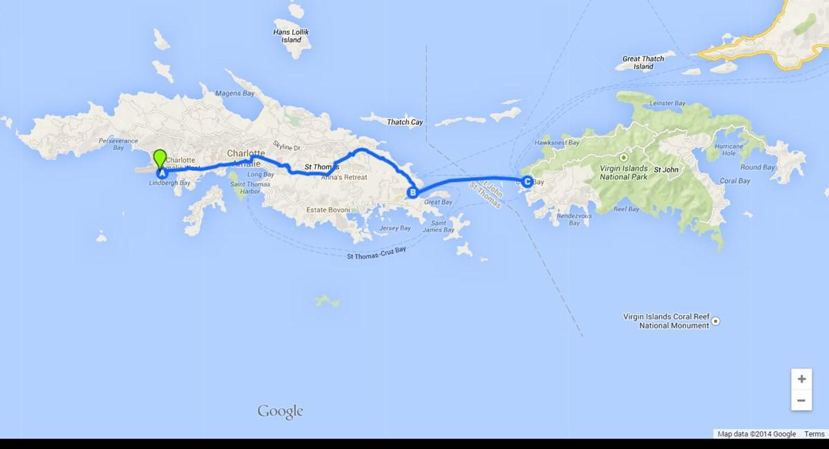 Map Of Us Islands.Directions Virgin Islands National Park U S National Park Service