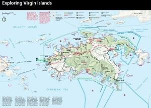 Maps Virgin Islands National Park US National Park Service - Map of us in 1821