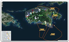 Marine Interactive Map with Border