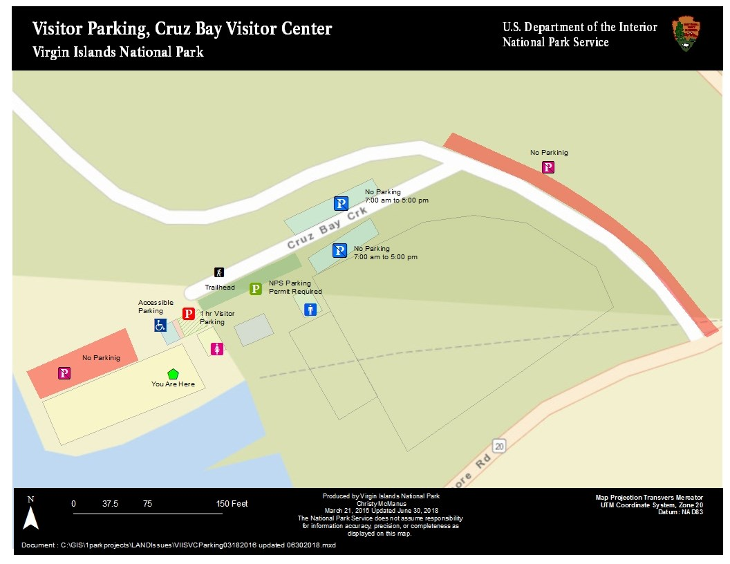 Visitor Center Parking Map