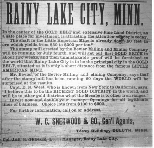 Rainy Lake City ad