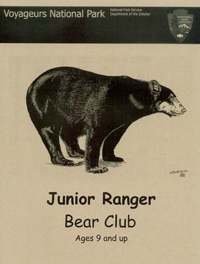 Bear Club Junior Ranger Booklet