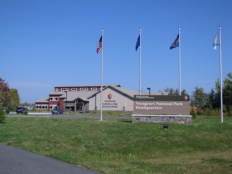 Park Headquarters, building and sign.