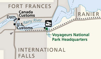 Voyageurs Headquarters Map