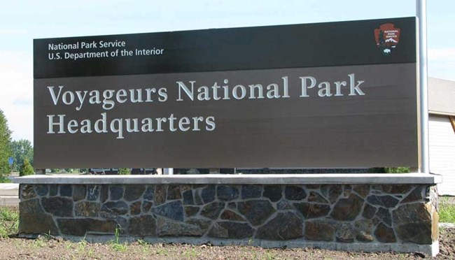 Voyageurs headquarters sign