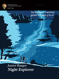 Front cover of the Junior Ranger Night Explorer booklet