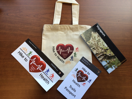 Hike to Health Bag and Brochures