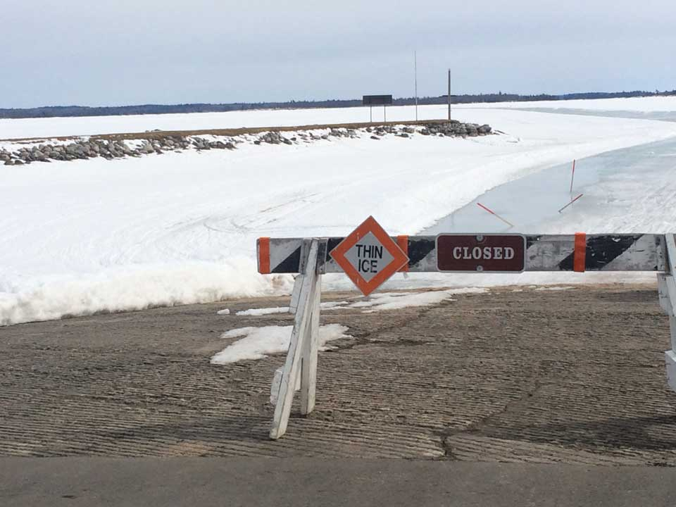2018 Voyageurs National Park Closes Ice Roads and Snowmobile Trails