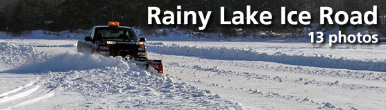 Plowing the Rainy Lake Ice Road