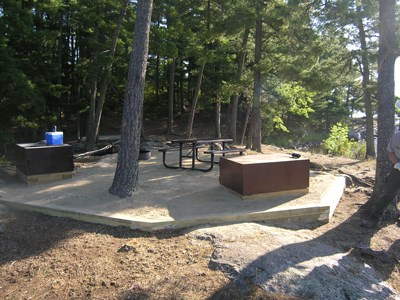 A renovated campsite