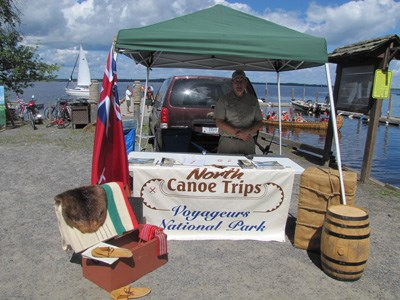 Voyageurs event booth at Rainier Days