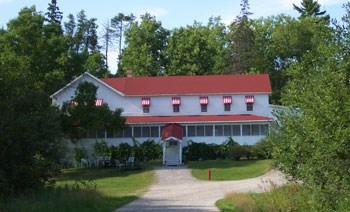 Front View of the Kettle Falls Hotel