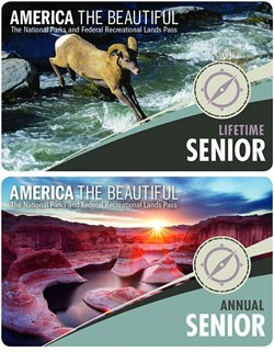 America the Beautiful-The National Parks and Federal Recreational Lands Pass- Senior Lifetime and Annual Pass-2017