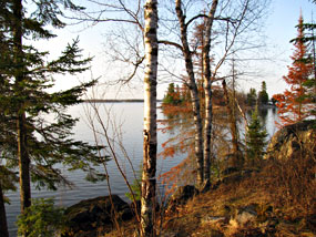 View from Woodenfrog Campground toward Kabetogama Lake