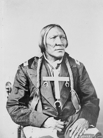 Cheyenne Little Robe, from 19th century photograph