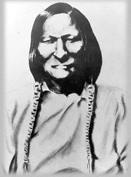 Photograph of Cheyenne Indian Chief Black Kettle, from 1800's.