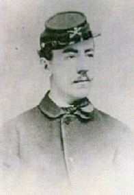 Captain Louis McLane Hamilton, in an 1860's photograph shows a young man's face with mustache and wearing a kepi hat.