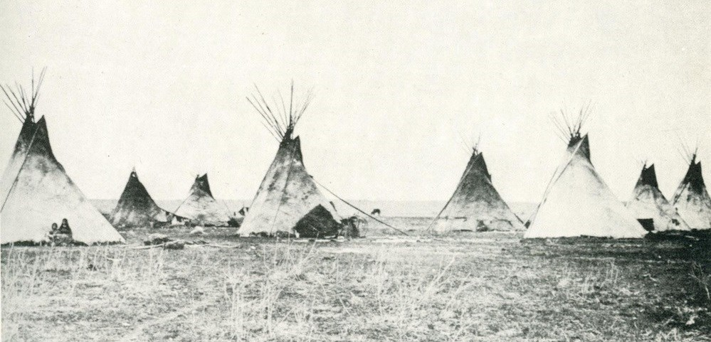 1870's photograph of Cheyenne Village