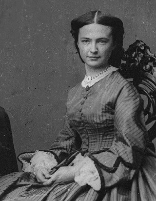 Elizabeth Bacon Custer, from 1860's photograph