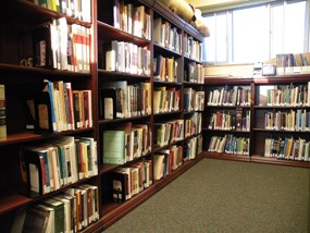 Some of the library at Washita Battlefield NHS.