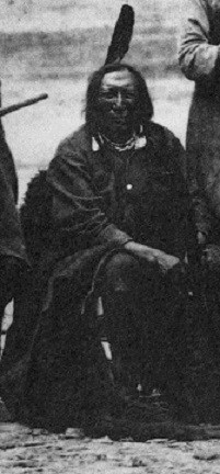 Photograph of Cheyenne warrior Roman Nose, Ft Laramie, 1868