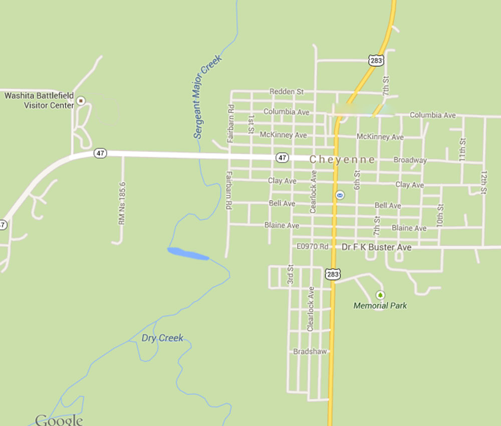Cheyenne Ok Map Submited Images
