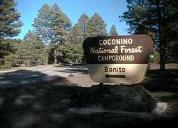 USFS campground sign