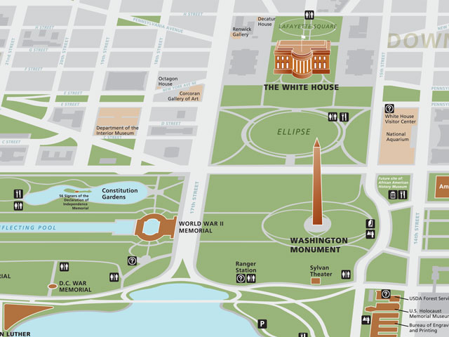 Maps Washington Monument US National Park Service – Washington Dc Tourist Map Pdf