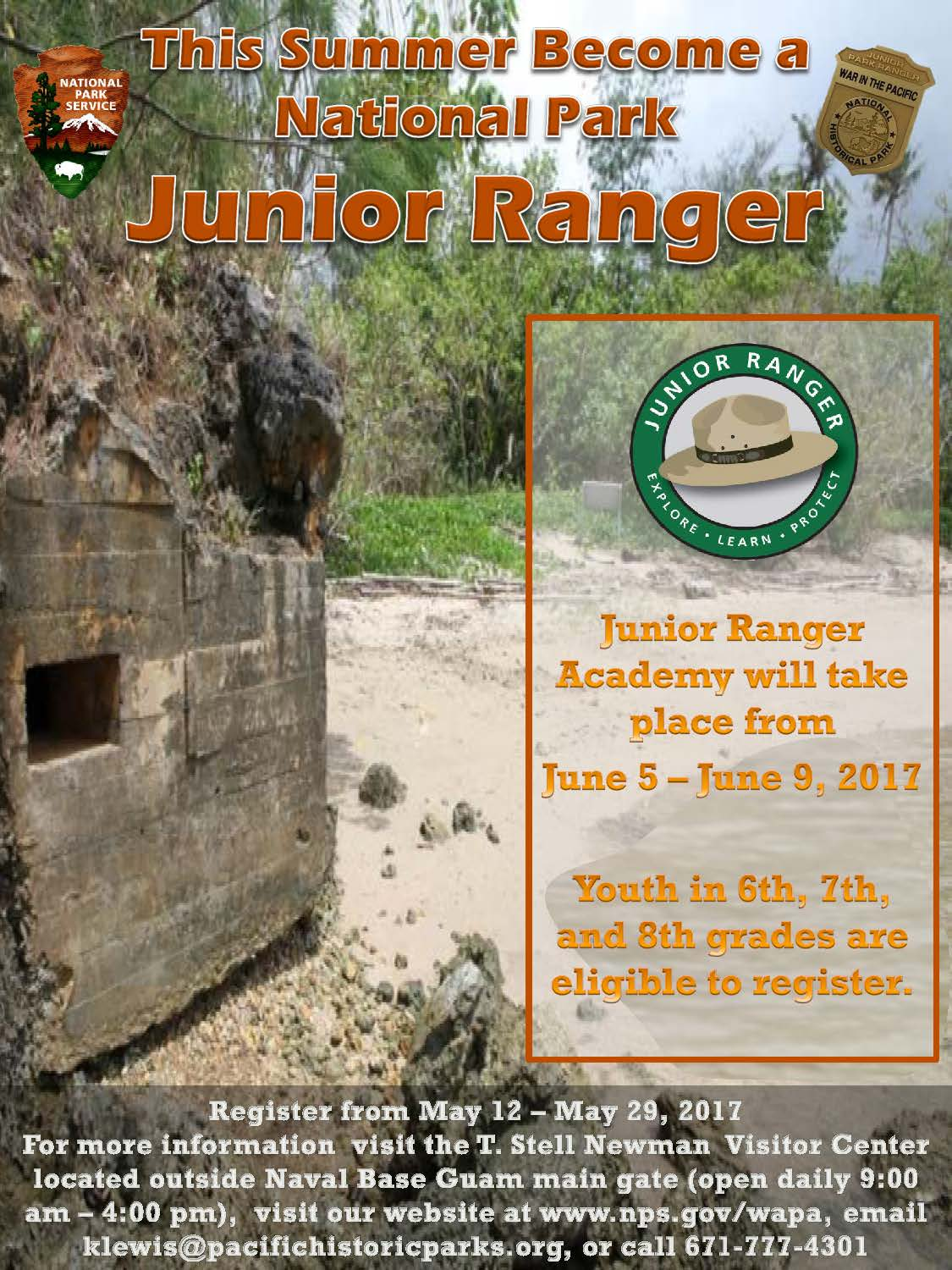 War in the Pacific National Historical Park Hosts Junior Ranger Academy!