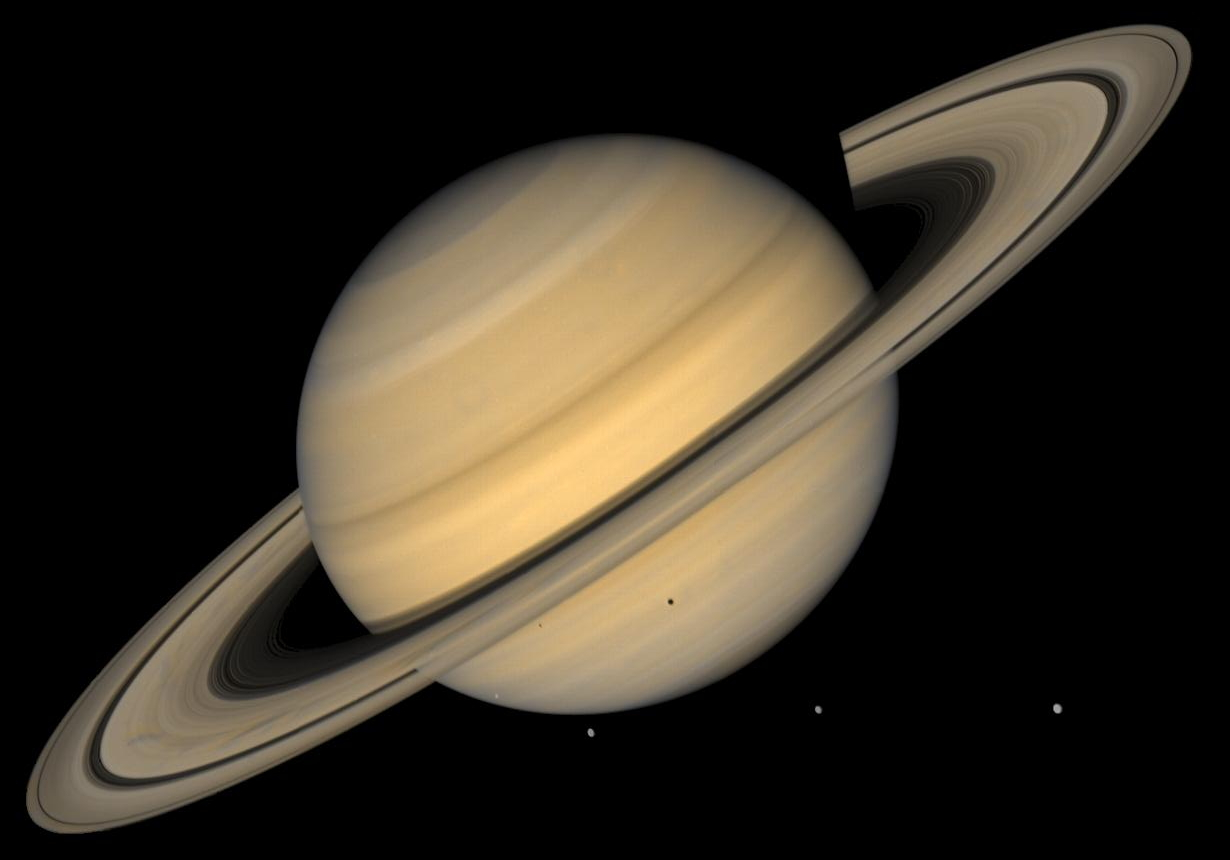 The planet Saturn from the Hubble Space Telescope