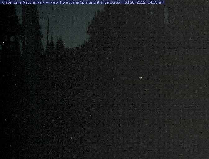 See Crater Lake Annie Springs Entrance Live Webcam & Weather