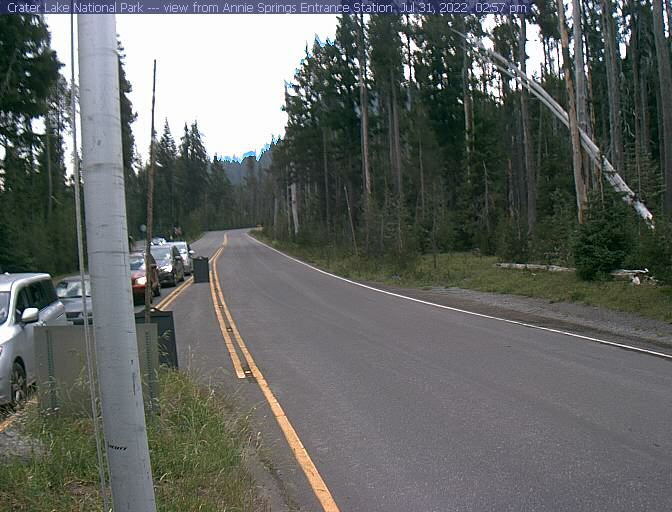 Hwy 62 Oregon at Crater Lake National Park Annie Springs entrance, courtesy NPS.gov