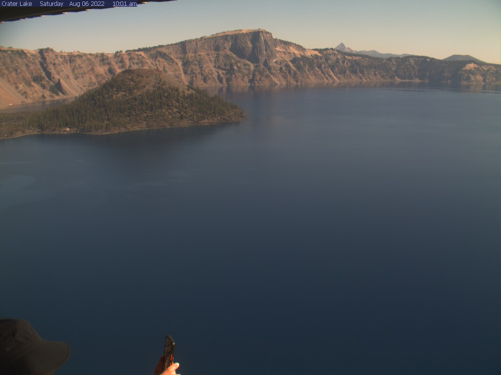 Crater Lake webcam from Sinnott Memorial Overlook