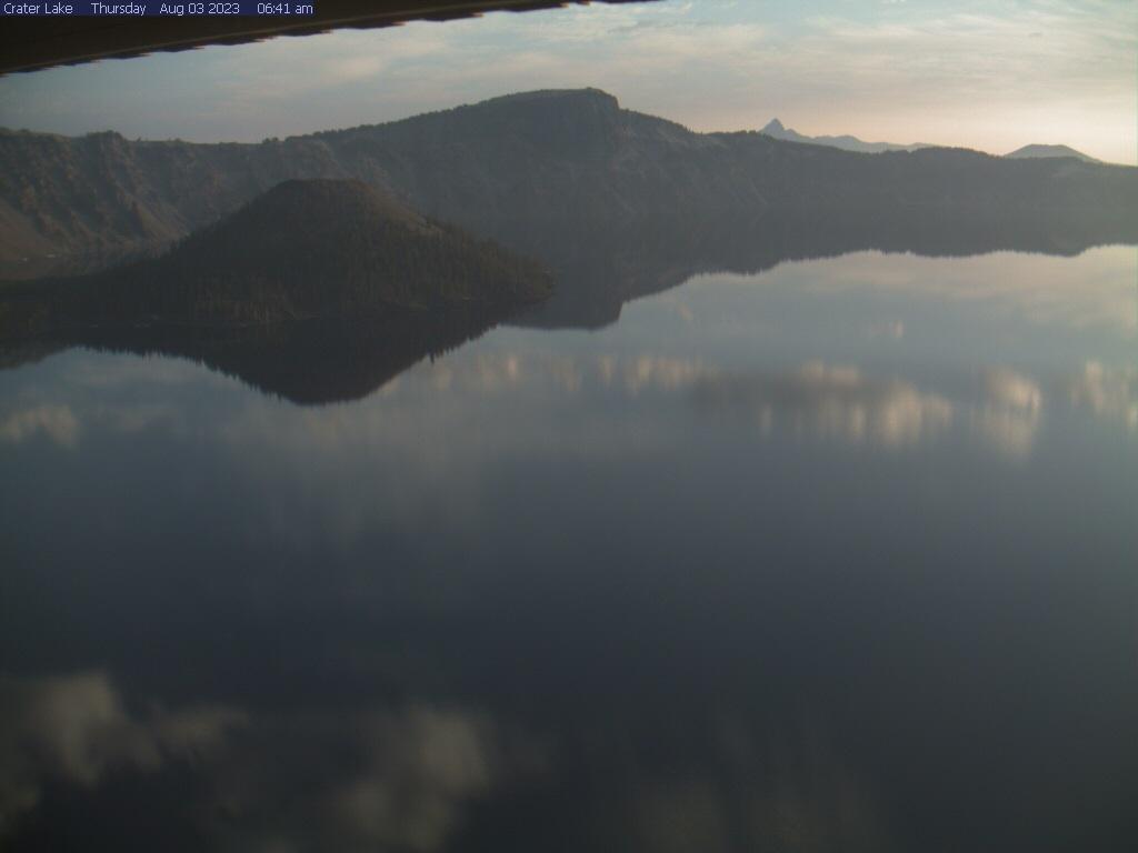 Webcam image of Crater Lake from Sinnott Memorial