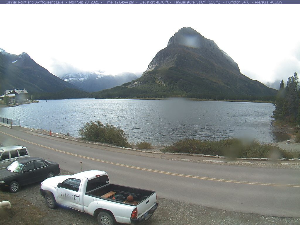 image from the Many Glacier Webcam
