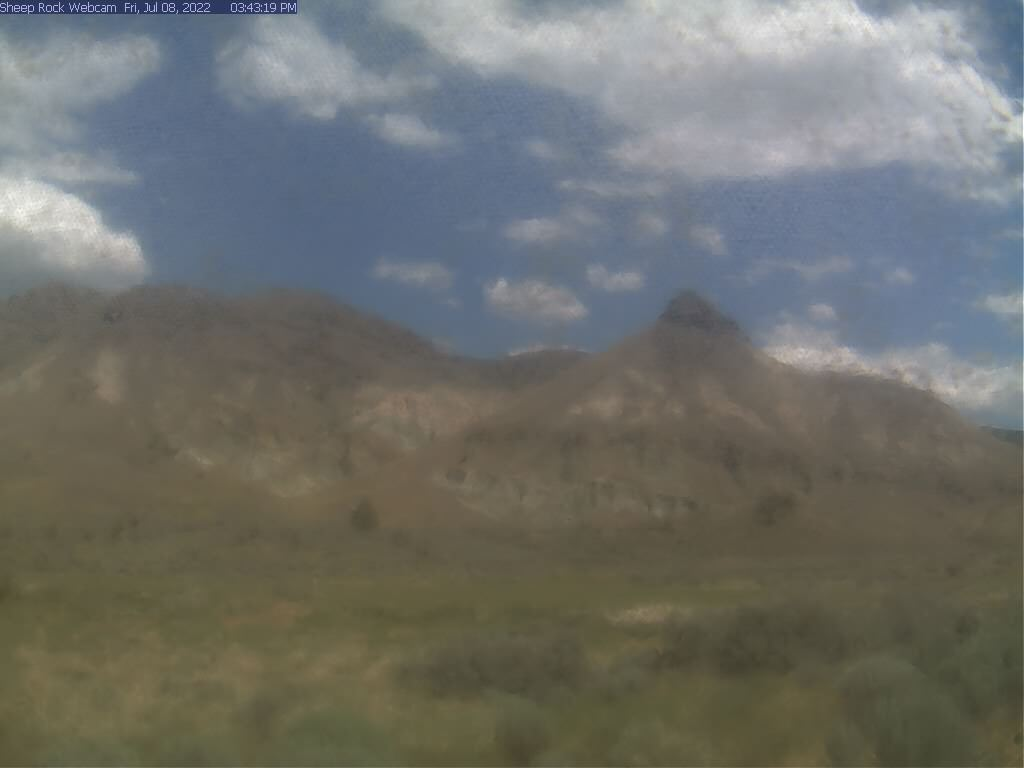View of Sheep Rock from the Thomas Condon Paleontology Center