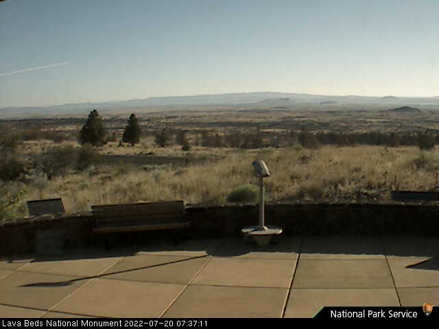 Visitor Center webcam at Lava Beds NM