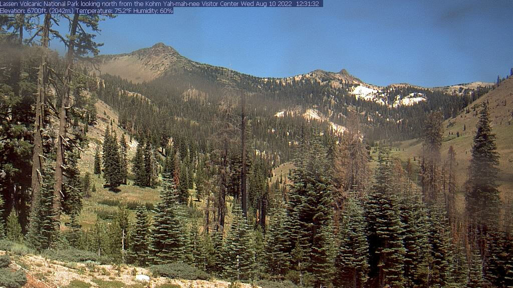 Lassen Volcanic National Park Kohm Yah-mah-nee Visitor Center webcam