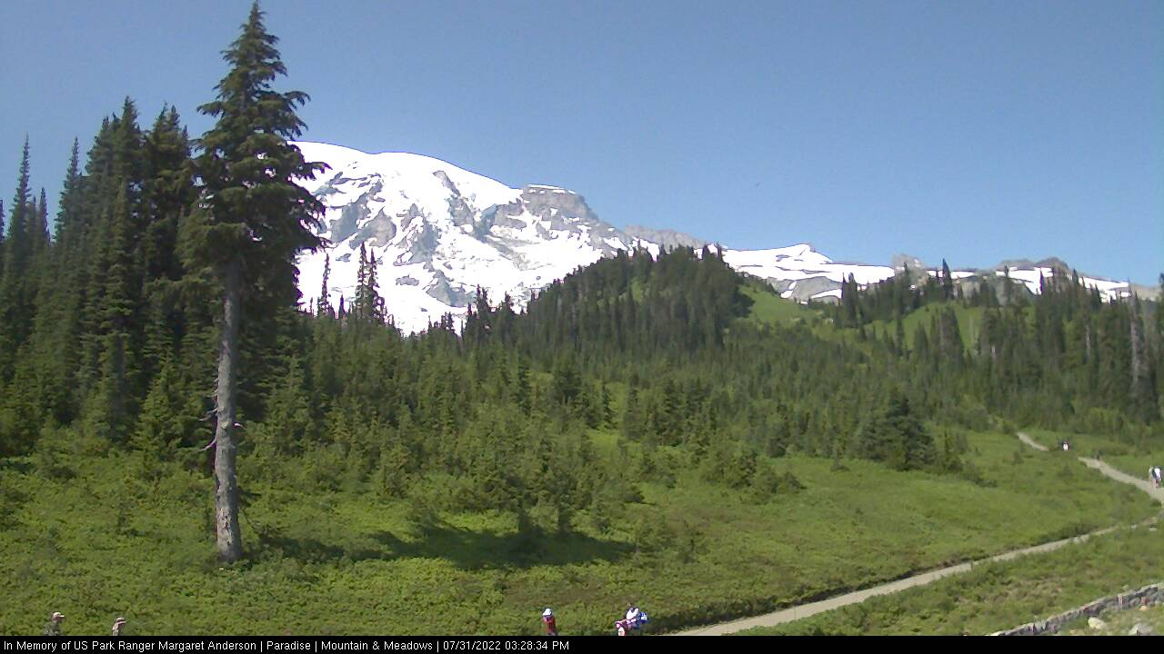 View of Mount Rainier from the Paradise Visitor Center