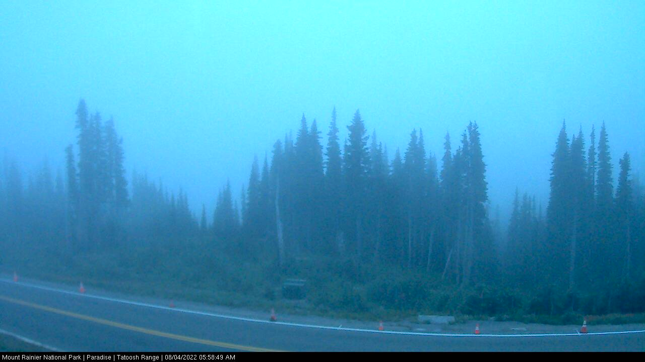 Looking south towards the Tatoosh Range from Paradise at Mount Ranier National Park