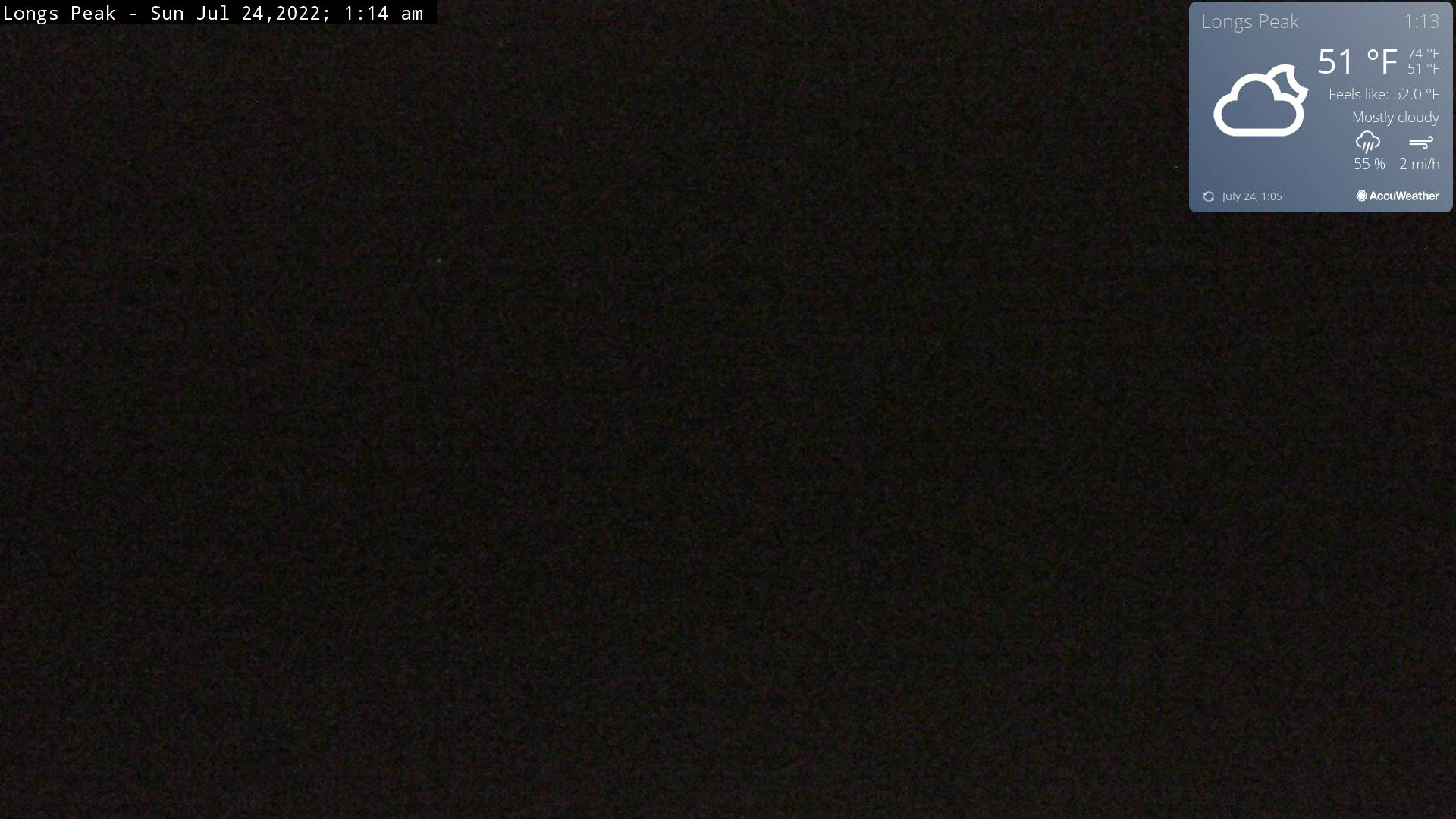 Longs Peak Webcam