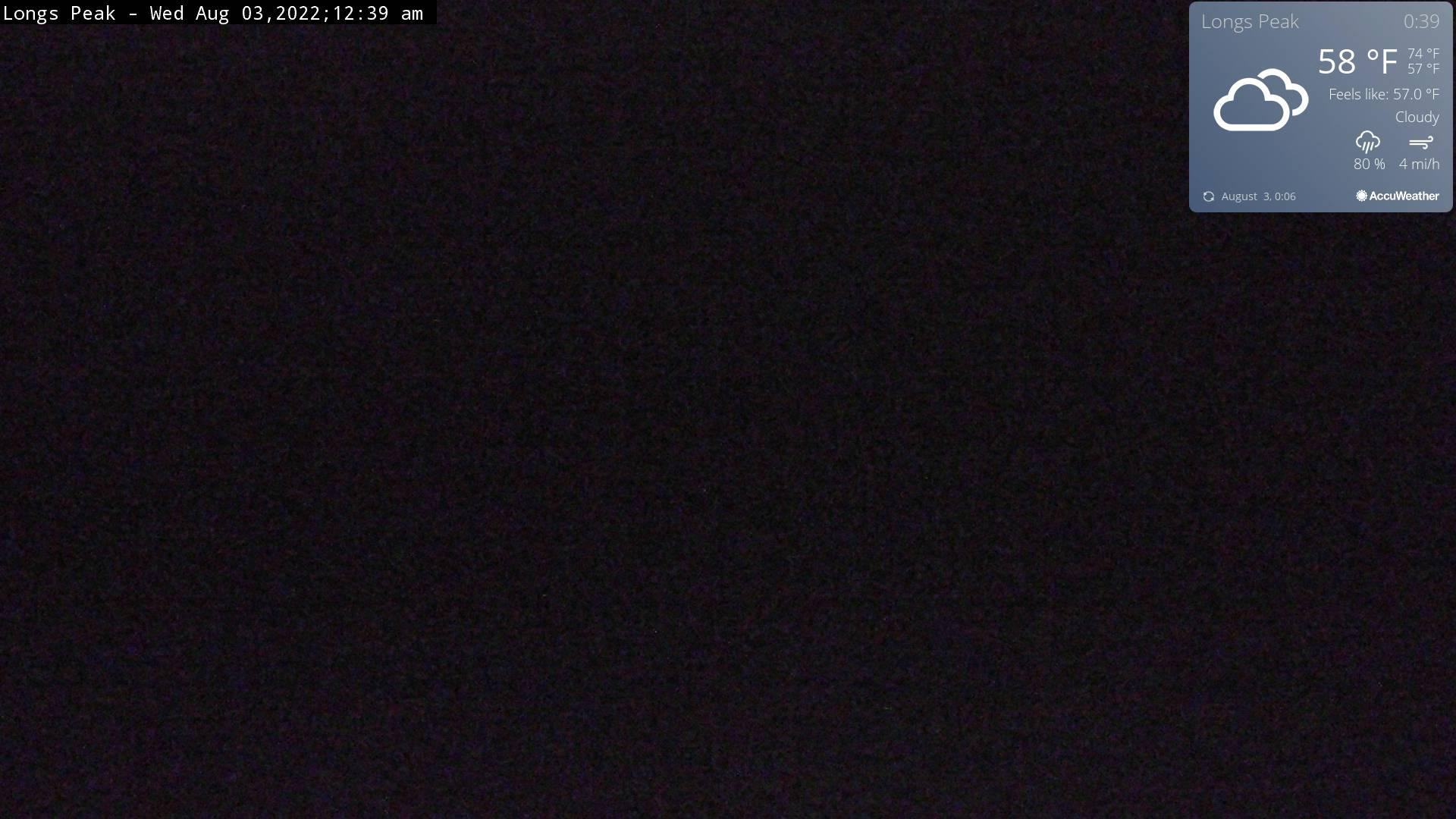 Longs Peak Webcam - Estes Park, CO