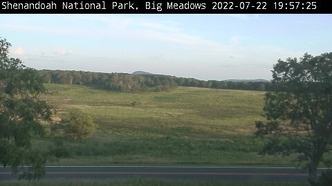 Big Meadows Webcam - from Byrd Visitor Center looking South, Shenandoah National Park, Virginia.
