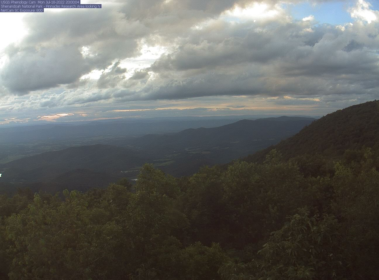 Mountain View webcam showing                                  Shenandoah Valley