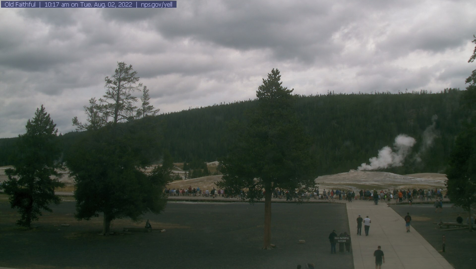 Old Faithful Webcam in the visitor center