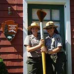 Park rangers getting ready for Paintbrush Limbo!