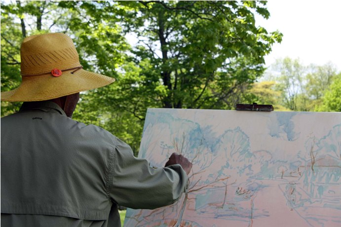 Dmitri Wright Paints En Plein Air at Weir Farm NHS - NPS Photo